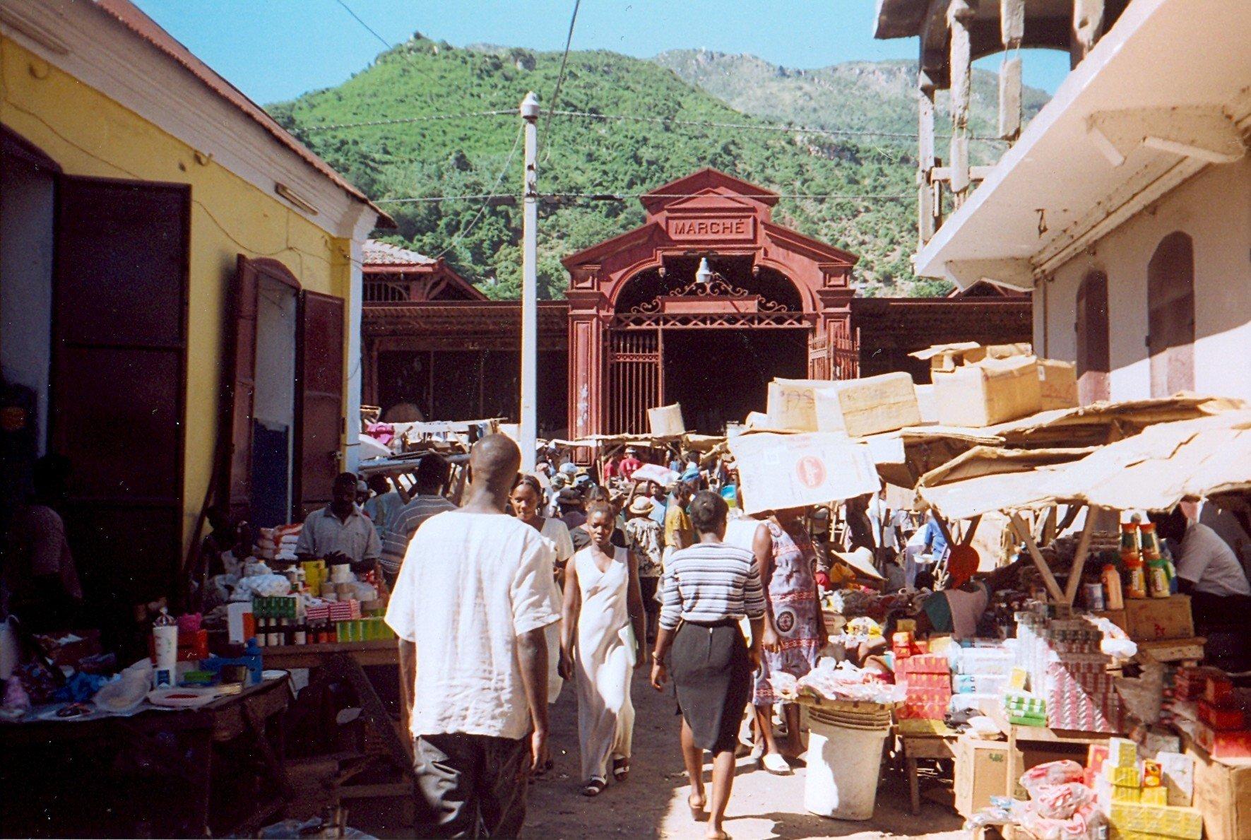 A market in Cap-Haïtien