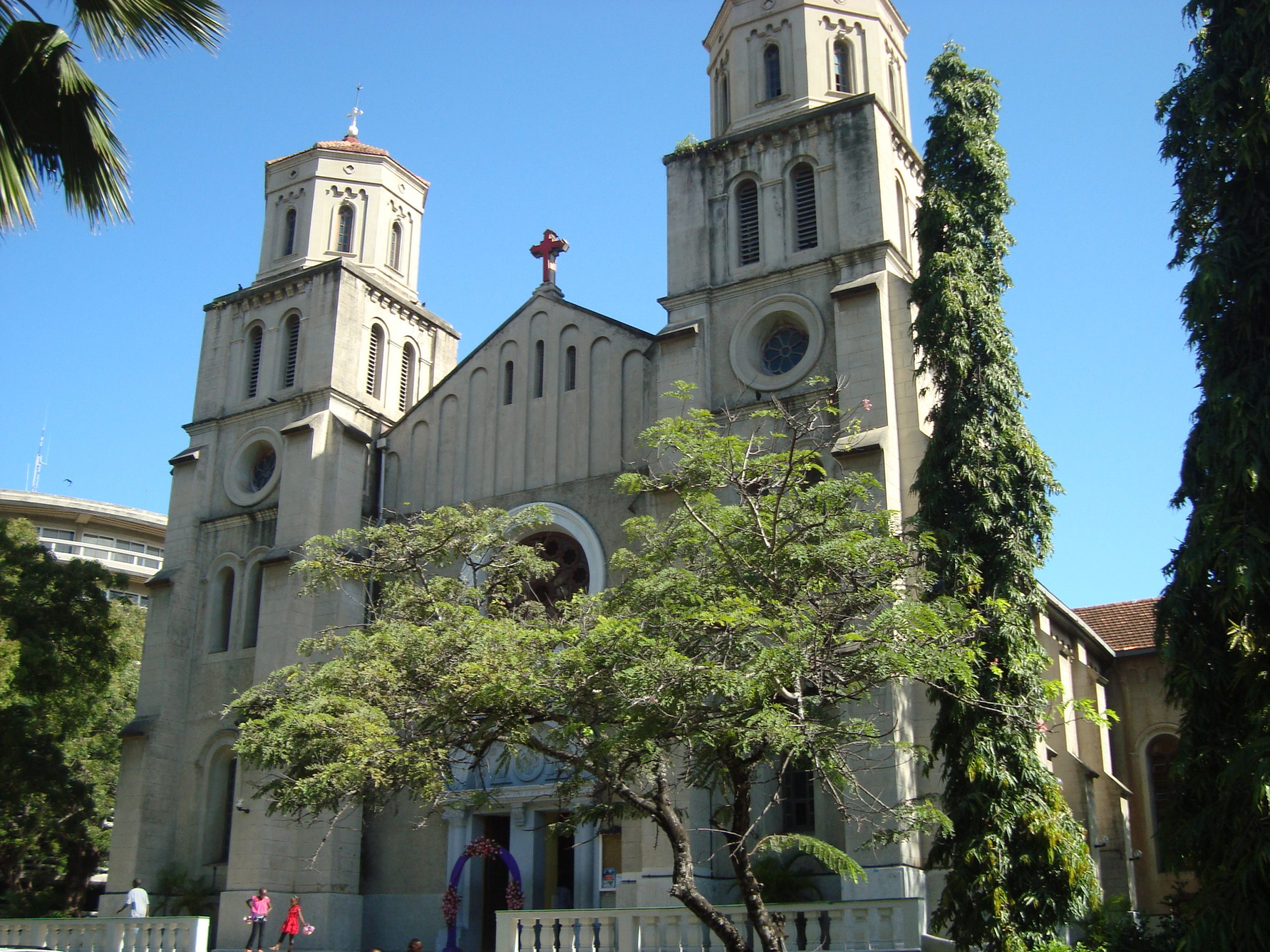 Holy Ghost Roman Catholic Cathedral in Mombasa.