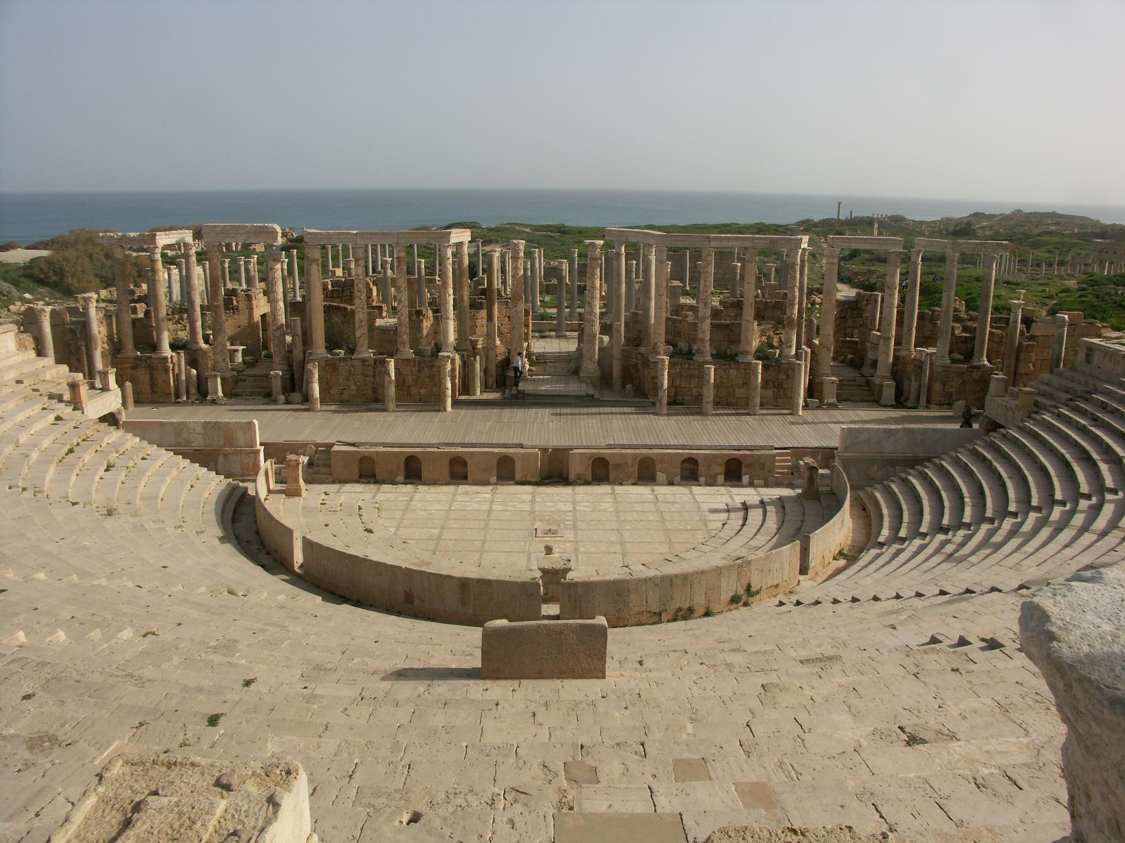 Leptis Magna Theatre Libya`
