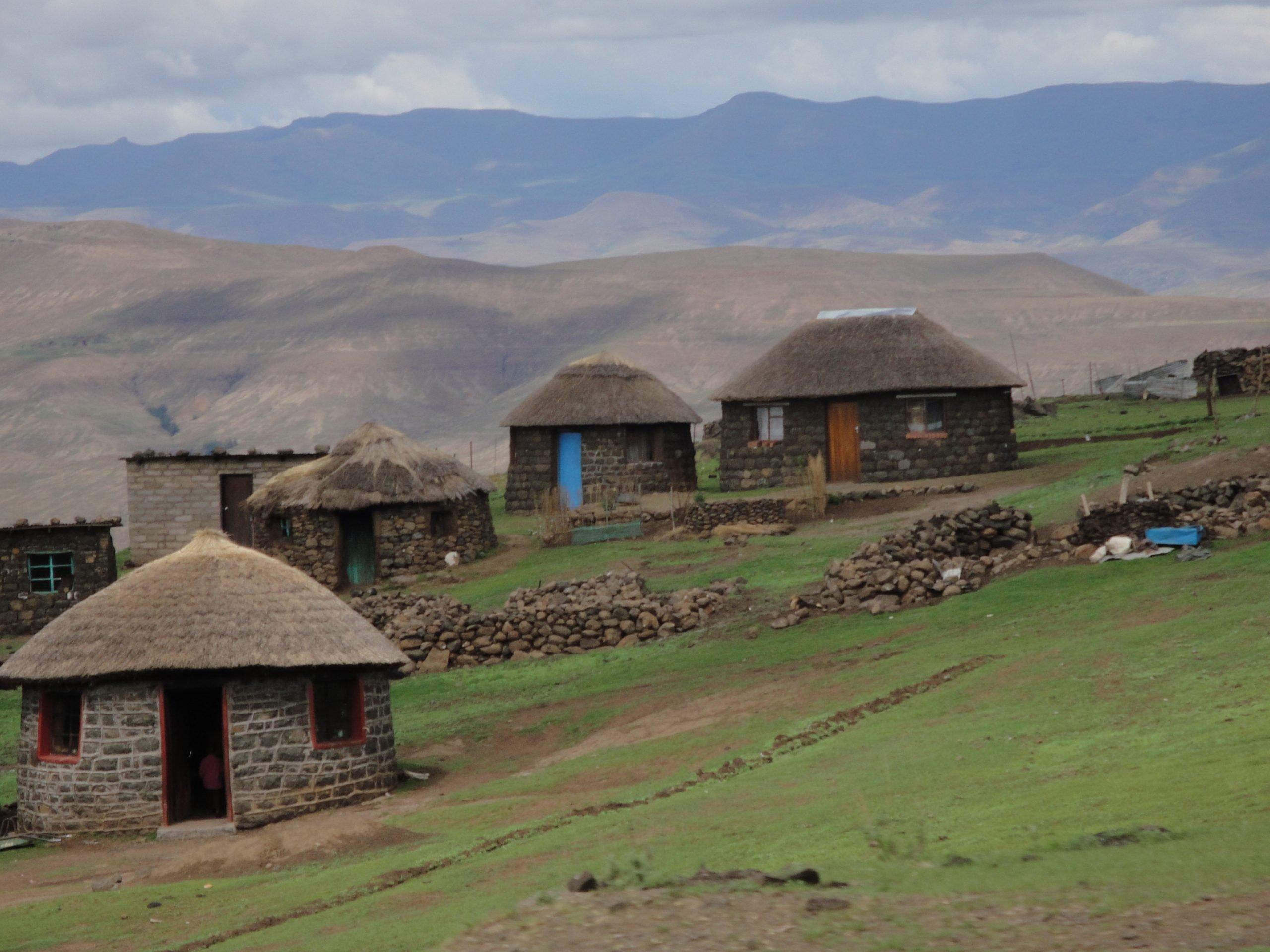 Lesotho mountain village